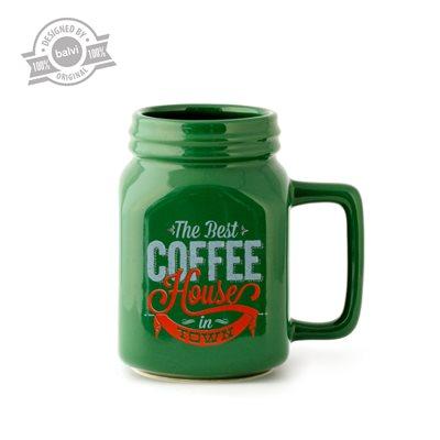 Green Mason Mug-Coffee