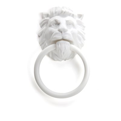 Lion's Head Towel Holder-White