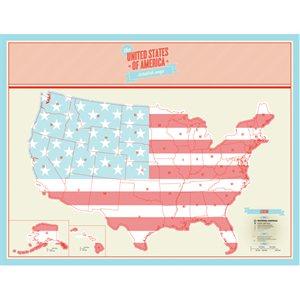 Carte USA à Gratter