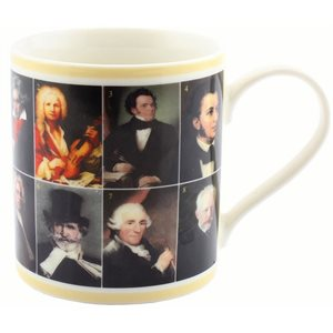 Famous Composers in history mug
