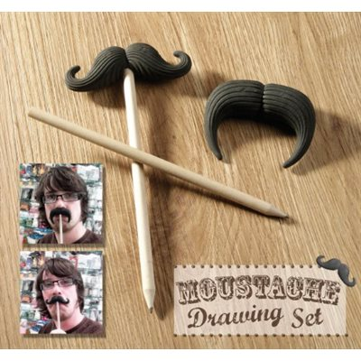 Moustache Drawing Set