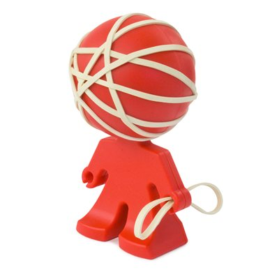 Rafael Rubber Band Holder-Red